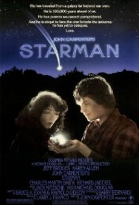 Movie poster for Starman, starring Jeff Bridges and Karen Allen, from December of 1984.